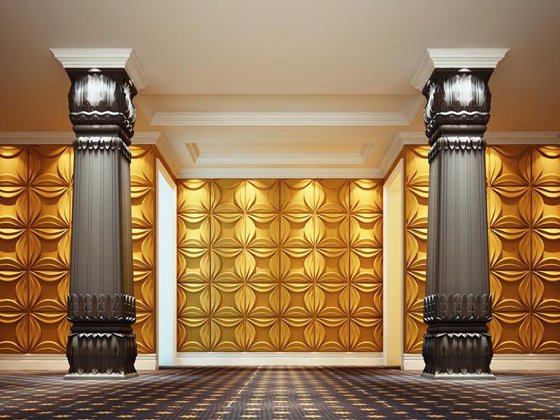 Tấm ốp tường 3D khách sạn 2