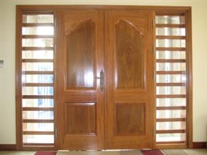 Cửa gỗ ghép thanh phủ veneer
